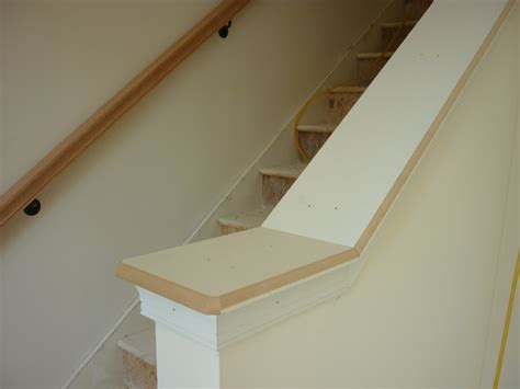 half wall staircase half wall or rail for stairs studio design