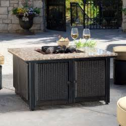 Outdoor Patio Table With Propane Fire Pit by Uniflame Granite Propane Fire Pit Table With Free Cover At