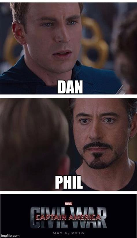 Dan And Phil Memes - marvel civil war 1 meme imgflip