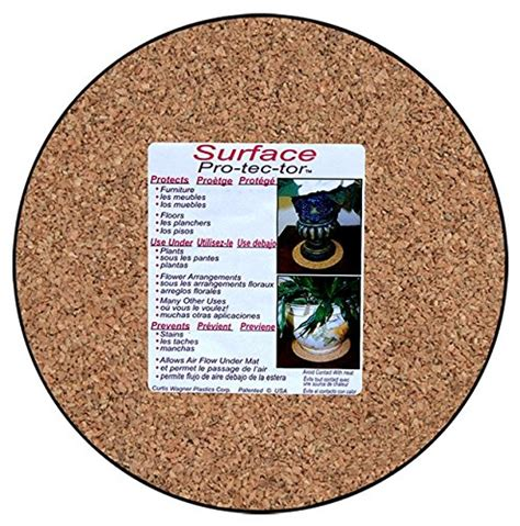 floor protectors for plants cwp mc 800 plant mat natural cork 8 inch home garden