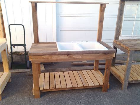 potting bench plans southern living 2 rustic potting benches with sinks pb with sink