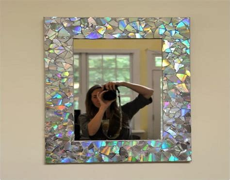 mirror frame decorating ideas recycled old cds crafts ideas recycled things