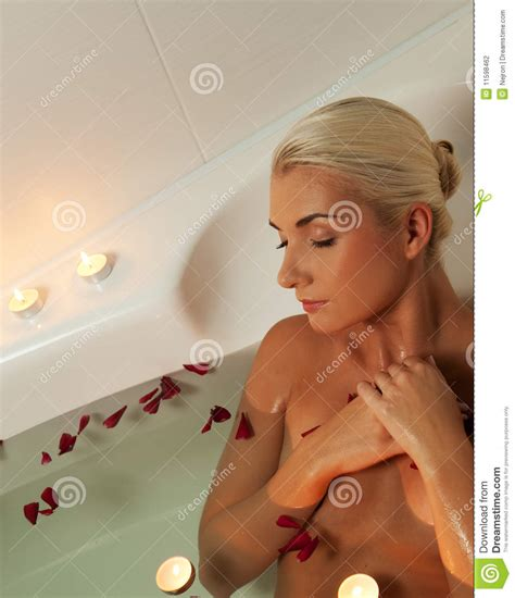 woman in bathroom woman relaxing in bathroom stock photography image 11598462