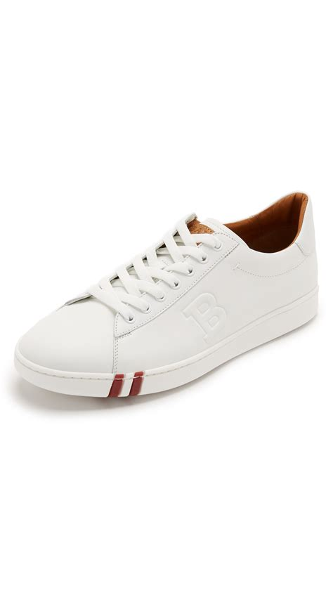 mens bally sneakers bally asher sneakers in white for lyst