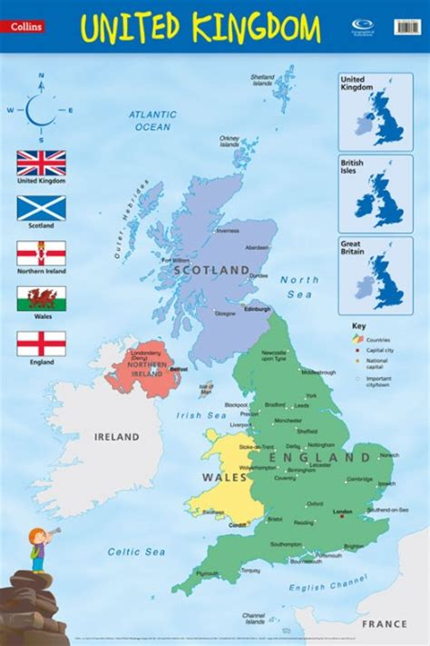 map uk united kingdom wall map collins co uk
