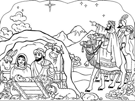 nativity coloring pages free new calendar template site