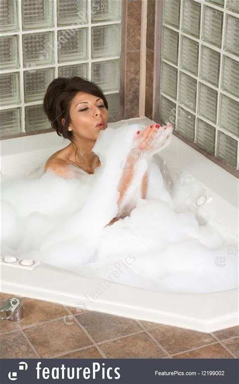 sexy in bathtub people attractive young gorges woman taking bubble bath
