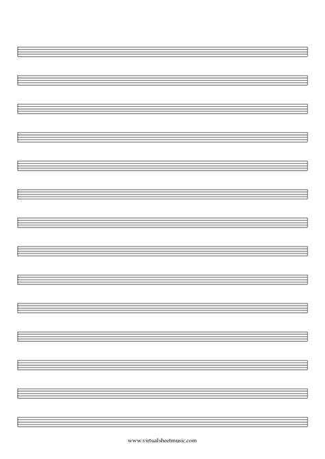 printable staff paper for drums blank sheet music