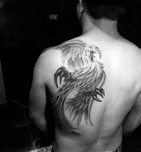 tattoo ideas for men shoulder blade 40 back designs for flaming bird ideas