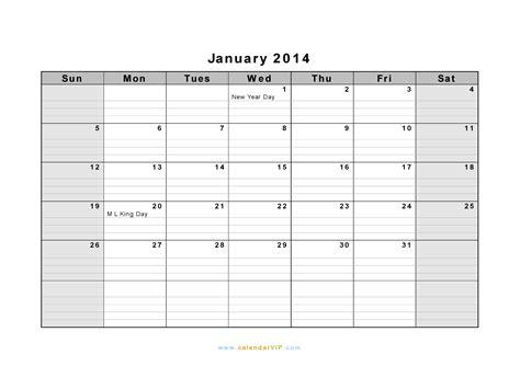calendar template with notes for everyday landscape hot january 2014 calendar blank printable calendar template