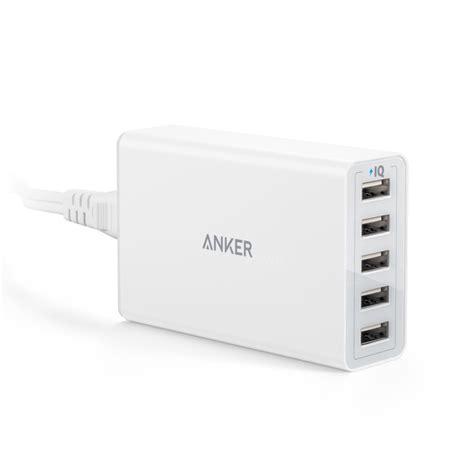 Anker Powerport 5 40w 5v 8a 5 Usb Ports Poweriq Smart Phone Charger 楽天市場 anker powerport 5 40w5ポート usb急速充電器 acアダプタ poweriq