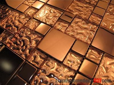Sle Copper Metal Pattern Textured Glass Mosaic Tile | sle copper metal pattern textured glass mosaic tile