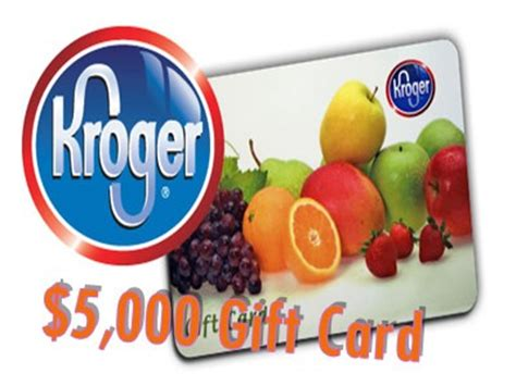 www tellkroger com win a kroger gift card with the maximum value of 5 000 in - Kroger Gift Card Value