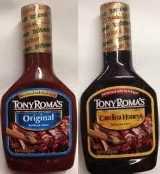Tony Romas Carolina Honeys Bbq Saucebarbecue Sauce variety pack tony roma s barbecue sauce 5 original and 5