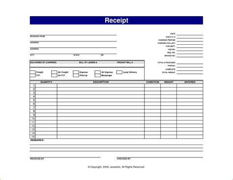 template receipt for services printable receipt for services printable receipt