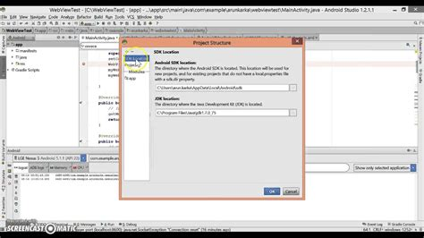 android sdk location how to set android sdk location and jdk location in your android studio
