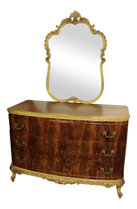 vintage french provincial dresser with mirror antique french provincial dresser mirror a pair chairish