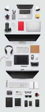 designer desk essentials vector graphics 365psd com top view designer desk