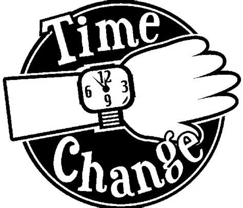 Of Time And Change daylight saving time clipart cliparts co