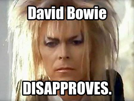 David Bowie Meme - david bowie disapproves lol music david bowie