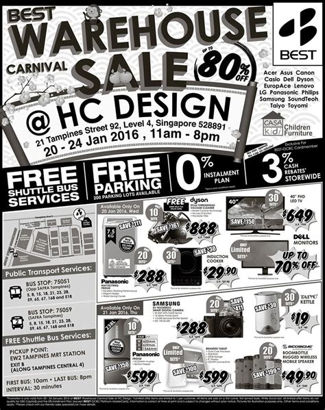 best denki new year promotion best denki carnival warehouse sale now held at hc design