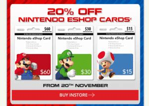 Where To Buy Eb Games Gift Cards - expired get 20 off nintendo eshop gift cards at eb games gift cards on sale