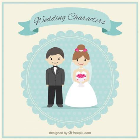 Wedding Invitations Characters wedding characters vector free