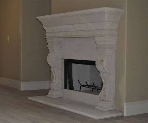 handmade cast fireplace mantel surround by southern