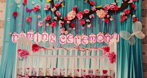 ideas for best decoration ideas for naming ceremony