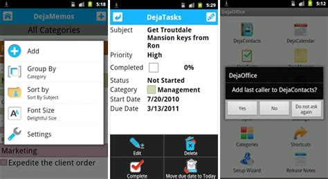 dejaoffice for android dejaoffice for android 1 11 6 adds great new features beta out now companionlink