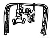 monkey bar coloring page monkey bars colouring pages