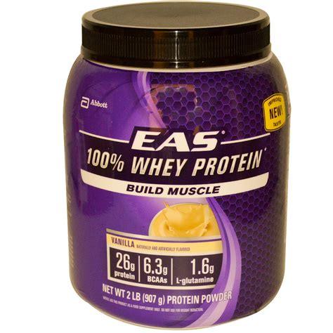 whey better protein powder eas 100 whey protein powder vanilla 2 lbs 907 g