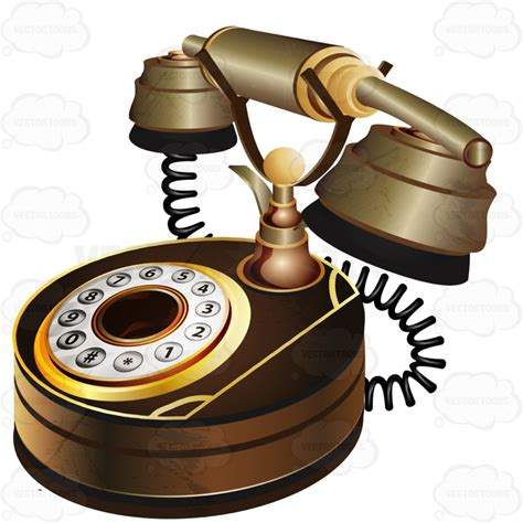 Purple And Brown Bedroom brown rotary telephone cartoon clipart vector toons