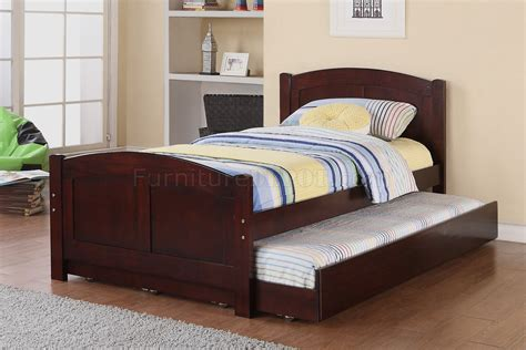 kids bedroom pc set  poundex  cherry wtrundle bed