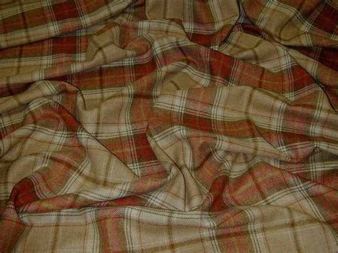 tartan material for upholstery wool tartan plaid red oatmeal check fabric curtain
