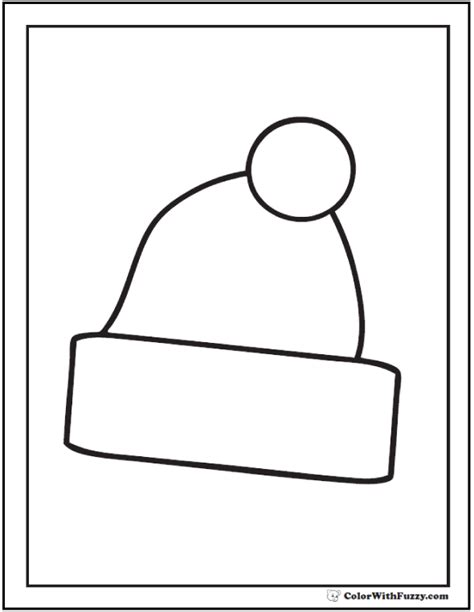 stocking hat coloring page 55 birthday coloring pages customizable pdf