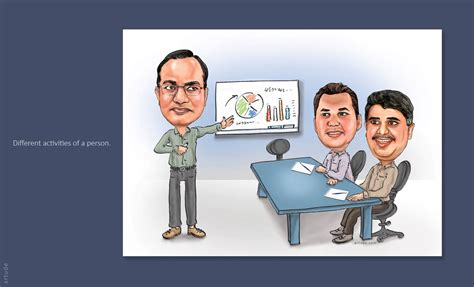 Friends Office by Corporate And Personalized Caricature Gifts For Friends