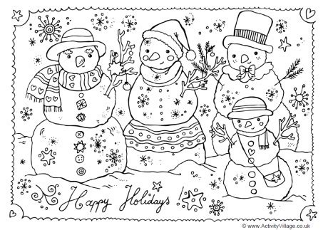coloring page snowman family snowman family coloring pages gt gt disney coloring pages