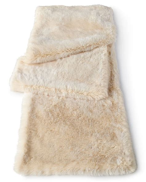 white fur table runner faux mink table runner