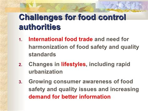 Mba In Food Safety And Quality Management In India by 2006 Assuring Food Safety And Quality En Ppt