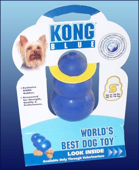 toughest chew toys kong blue toughest rubber chew small size ebay