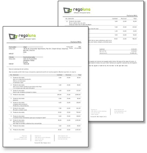 formato nota de credito ejemplo hoja pdf reader pedido liberando c 243 digo facturas espa 241 olas para vtiger regoluna