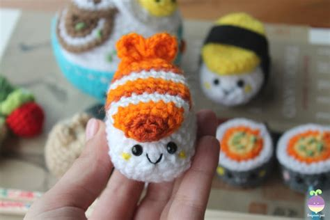 amigurumi sushi pattern amigurumi food new crochet pattern bento family sushi set