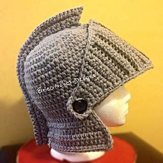 crochet pattern knight helmet free ravelry extra thick knights helmet pattern by briecrochet