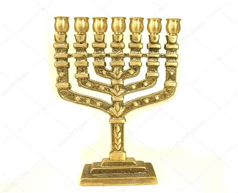 candelabros judios menor 225 candelabro jud 237 o de color dorado foto de stock