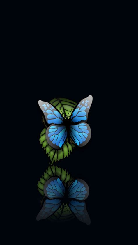 black wallpaper hd for iphone 6 plus blue butterfly black background iphone 6 plus hd wallpaper