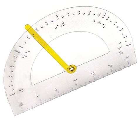 printable ruler for visually impaired product tactile protractor 4 pack