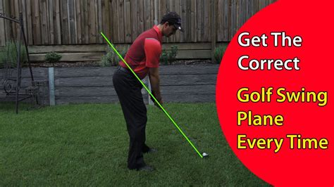right hand golf swing how to get the correct golf swing plane every time in your