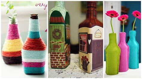 decoracion de botellas de vidrio con servilletas recicla y aprende c 243 mo decorar tus botellas de vidrio