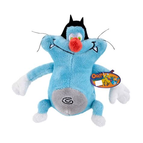 Boneka Oggy jual oggy and the cockroaches oggy basic plush blue mainan